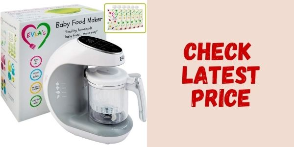 Evla's Baby Food Processor Blender Grinder Steamer