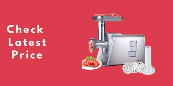 Sunmile SM-G73 Heavy Duty Electric Meat Grinder and Sausage Stuffer Maker