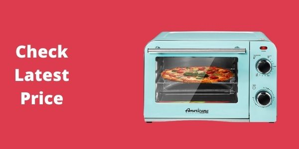 Elite Gourmet Americana Vintage Diner 50's Retro Countertop Toaster oven