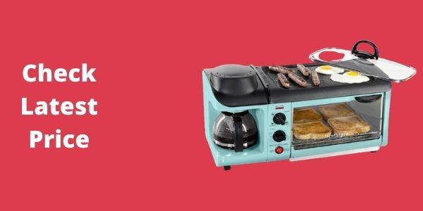 NOSTALGIA BSET300AQ Retro 3-in-1 Toaster Oven