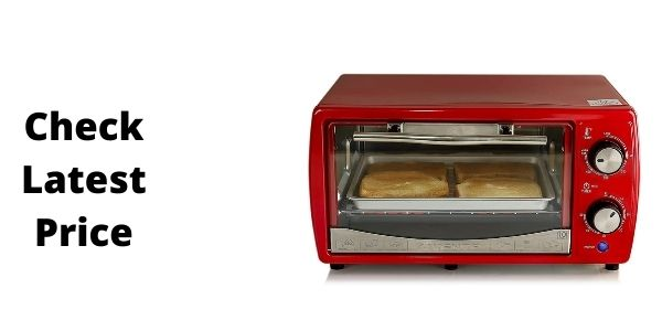 Ovente TO6895R Countertop 4 Slice Capacity Convection Toaster Oven